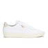 Puma Men's Tennis Star Crafted Leather Low Top Trainers - White: Image 1