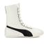 Puma Women's Eskiva Hi Lace-Up Trainers - White/Black: Image 1