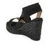 Castaner Women's Bernard Strappy Espadrille Wedged Sandals - Black: Image 4