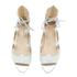Loeffler Randall Women's Dani Front Tie Sandals - Silver: Image 2