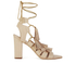 Loeffler Randall Women's Luz Tassel Block Heeled Sandals - Wheat: Image 1