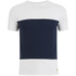 Armor Lux Men's Panelled T-Shirt - Milk/Navy: Image 1