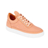 Filling Pieces Women's Stripe Quilted Low Top Leather Trainers - Orange: Image 4