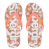 Superdry Women's Printed Cork Flip Flops - Fluro/Coral Palm Print: Image 1