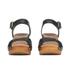 UGG Women's Janie Leather Heeled Sandals - Black: Image 4