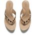 UGG Women's Natassia Calf Hair Leopard Wedged Sandals - Chestnut Leopard: Image 2