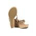 UGG Women's Natassia Calf Hair Leopard Wedged Sandals - Chestnut Leopard: Image 6