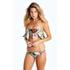 Wildfox Women's Fairy Wall Strapless Flutter Bikini Top - Multi: Image 2