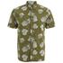 Penfield Men's Belden Printed Short Sleeve Shirt - Olive: Image 1