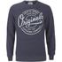 Jack & Jones Men's Originals Tones Sweatshirt - Navy Blazer Melange: Image 1