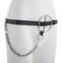 McQ Alexander McQueen Women's Circle Buckle Slim Belt - Black: Image 4