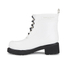 Ilse Jacobsen Women's Lace Up Ankle Rubber Boots - White: Image 4