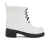 Ilse Jacobsen Women's Lace Up Ankle Rubber Boots - White: Image 1