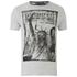 Brave Soul Men's Lamont Graphic Print T-Shirt - Ecru Marl: Image 1