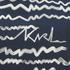 Karl Lagerfeld Women's Jacquard Scribble Top - Blue: Image 4