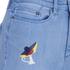 Karl Lagerfeld Women's Choupette Printed Denim Shorts - Light Blue: Image 4