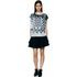 Designers Remix Women's Tilt Graphic Top - Black/White: Image 2