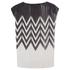 Designers Remix Women's Tilt Graphic Top - Black/White: Image 3