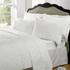 Highams 100% Egyptian Cotton Plain Dyed Bedding Set - White: Image 1
