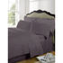 Highams 100% Egyptian Cotton Plain Dyed Bedding Set - Vintage Mauve: Image 1