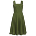 Maison Kitsuné Women's Iris Open Back Long Dress - Khaki: Image 1
