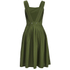 Maison Kitsuné Women's Iris Open Back Long Dress - Khaki: Image 3