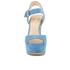 MICHAEL MICHAEL KORS Women's Kincade Platform Sandals - Denim: Image 4