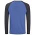 Brave Soul Men's Rasmus Grandad Long Sleeved Top - Ocean Blue/Charcoal: Image 2