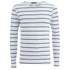 Scotch & Soda Men's Striped Long Sleeved Boat T-Shirt - White: Image 1