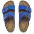 Birkenstock Women's Arizona Slim Fit Suede Double Strap Sandals - Blue: Image 2