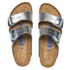 Birkenstock Women's Arizona Slim Fit Double Strap Sandals - Metallic Silver: Image 3