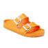 Birkenstock Women's Arizona Slim Fit Double Strap Sandals - Neon Orange: Image 2
