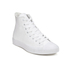 Converse Unisex Chuck Taylor All Star Leather Hi-Top Trainers - White Monochrome: Image 4