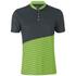 Primal Boundary Short Sleeve Henley - Black/Green: Image 1