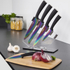Tower T80703 5 Piece Knife Block with Acrylic Stand - Black: Image 2