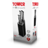 Tower T90300 5 Piece Knife Block - Black: Image 7