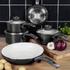 Swan SWPS3020BN Retro 3 Piece Aluminium Saucepan Set - Black: Image 3