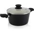 Tower T90922B Taper Ceramic Coated Casserole Dish - Black - 24cm: Image 1