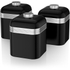 Swan SWKA1020BN Retro Set of 3 Canisters - Black: Image 1