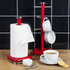 Swan SWKA1040RN Retro Towel Pole - Red: Image 2