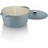 Tower IDT90001 Cast Iron Round Casserole Dish - Blue - 26cm: Image 2