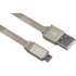 Kit USB to Micro USB Data & Charge Flat Cable - Metallic Gold: Image 1