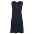 Sonia by Sonia Rykiel Women's Fishnet V-Neck Dress - Navy/Black: Image 1