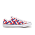 Converse Men's Chuck Taylor All Star Woven Canvas OX Trainers - White/Clematis Blue/Red: Image 1