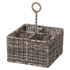 Parlane Purton Wicker 4 Section Bottle Holder - Brown: Image 1