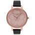 Olivia Burton Women's Enchanted Garden 3D Flower Watch - Black/Rose Gold: Image 1
