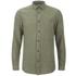 Selected Homme Men's None Trent Solid Long Sleeve Shirt - Olive Night Melange: Image 1