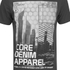 Dissident Men's Arrow Crane Graphic Print T-Shirt - Raven Grey: Image 3