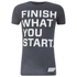 Myprotein Men's Performance Slogan T-Shirt – Charcoal