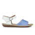Clarks Women's Tustin Sinitta Leather Double Strap Sandals - Blue Combi: Image 1
